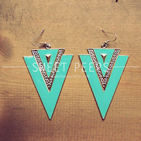 S U M M E R Turquoise Geometric Earrings