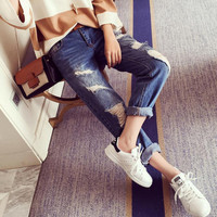 Vintage Womens Denim Pants Jeans Trousers Summer Gift 72
