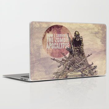 How I Survived The Zombie Apocalypse Laptop & iPad Skin by Eric Fan