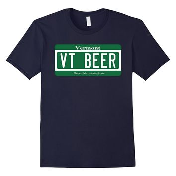 Vermont Beer Vermont License Plate T-Shirt