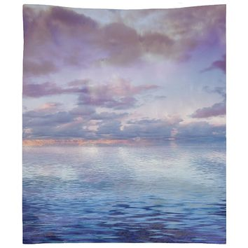 Blue and Purple Ocean Sky Wall Tapestry