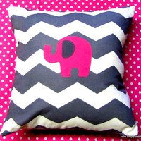 "12x12"" New Elephant Pillow"