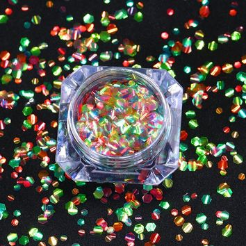 Hexagon Mermaid Scales Nail Sequins Multi-color Sparkle Paillettes Accessories Manicure Nail Art Decorations