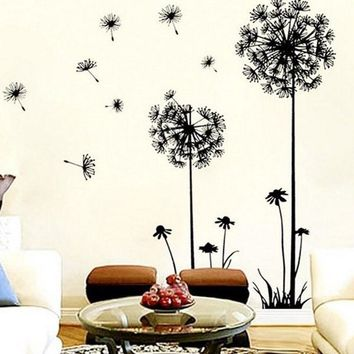 Dandelion Flower Tree NEW Living Room Bedroom Backdrop Home Decor Tree wall Stickers Home Decor Pegatinas De Pared Paredes