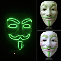 1PC Night Glowing Fancy Cosplay Face Mask Halloween Party Costume Masquerade Mask = 1946272004