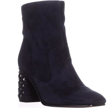 Guess Madeup Studded Heel Ankle Boots, Dark Blue, 11 US