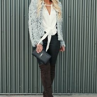 Fur Tonight Faux Fur Jacket (Grey)