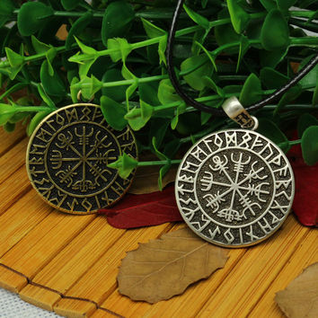 1pcs VALKNUT ODIN'S SYMBOL OF NORSE RUNIC PENDANT NECKLACE Viking Runes Vegvisir Compass Pendant - Dragon Soul Jewelry