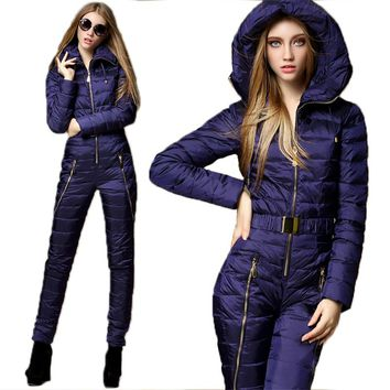 2018 New  Winter Clothing Set Outerwear High Quality Ski Suit Women Skiing Jackets +Pants Outdoor Ski Suits Free Shipping