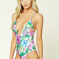 Tropical Print One Piece