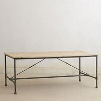 Reconstructed Dining Table by Anthropologie in Brown Size: One Size Furniture