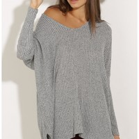 Jumpers/Cardigans > Oversized Knit Jumper In Grey