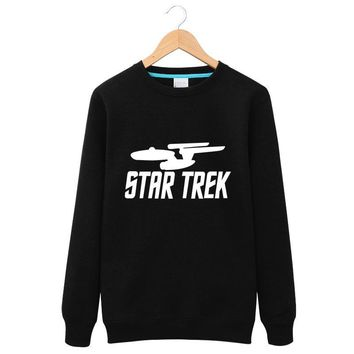 2017 Fashion Hoodies Men New Winter Fleece Tops Star Wars Star trek Funny Long Sleeves Leisure Sweatshirt