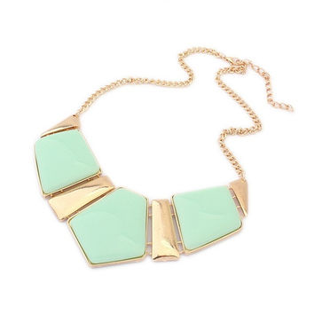 Fashion Gems Necklace Vintage Bib Statement Necklace Chain Chunky Collar Party = 1946781060