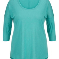 Plus Size - Lightweight Drop Shoulder Tunic Top