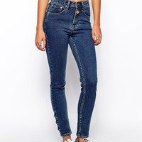 Zee.Gee.Why Vintage Look Skinny Jeans - Blue