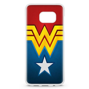 Wonder Woman Symbol Superhero Dc Comic Samsung Galaxy S7 Edge Case