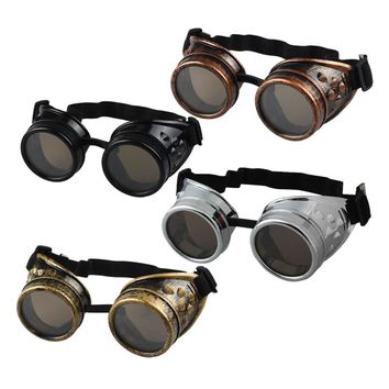 Vintage Style Steampunk Goggles Welding Punk Gothic Glasses Cosplay #LHD