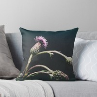 'Thistle' Throw Pillow by Karen Stahlros