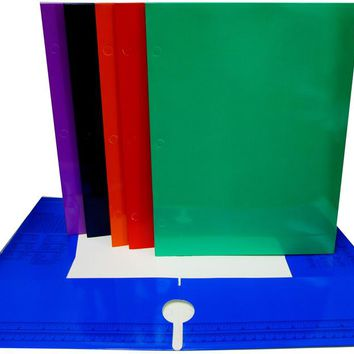 4 Pocket Laminated Folders - Assorted Colors - CASE OF 48