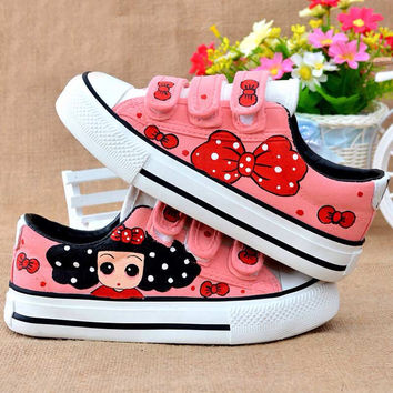Children's Hand Painted Canvas Sneakers