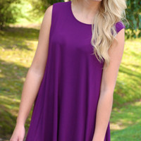 Game Day Bae Dress- Purple
