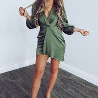 Make You Miss Me Dress: Olive