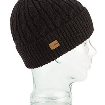Coal Men's Longview Cable-Knit Beanie, Black, One Size