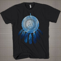 Indian Dream Catcher Galaxy  Mens and Women T-Shirt Available Color Black And White