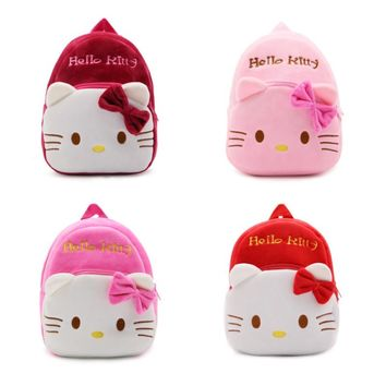 Hello Kitty childrens plush backpack bags
