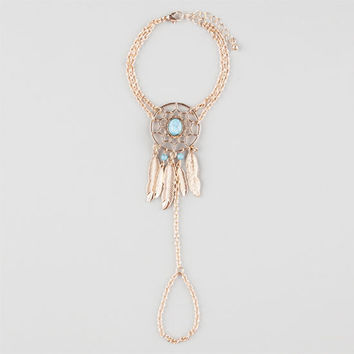 Full Tilt Dream Catcher Hand Harness Antique Gold One Size For Women 25909362301