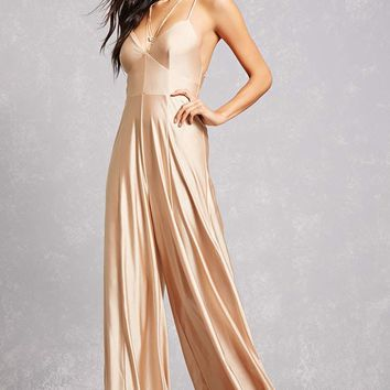 Metallic Strappy Jumpsuit