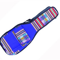 Peru Hand-Made Full-Accent Padded Ukulele Bag in Blue India