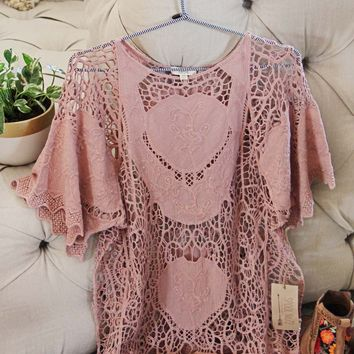 La Boheme Lace Top in Mauve