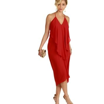 Red Wild Child Maxi Dress
