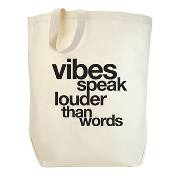 Vibes Speak Canvas Tote