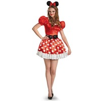 Disney Mickey Mouse & Friends Minnie Mouse Costume - Adult (Red)
