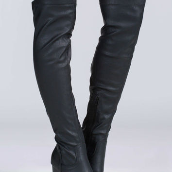 Chunky Town Over-The-Knee Lug Boots