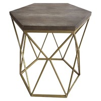 Threshold™ Metal Hexagon Table with Wood Top: Target