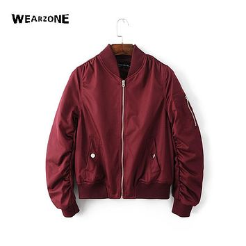 High Quality Casual cotton bomber jacket women autumn clothing 2016 new fashion hipster coat womens winter jackets and coats