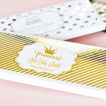 Personalized Metallic Foil Candy Wrapper Covers - Baby