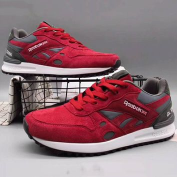Reebok Men Fashion Casual Sneakers Sports Running shoes Red+Dark grey G-XYXY-FTQ