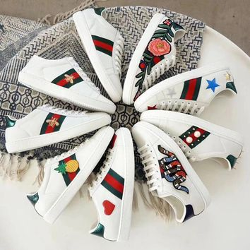Gucci Ace embroidered low-top sneaker A variety of elemental styles Shoes B