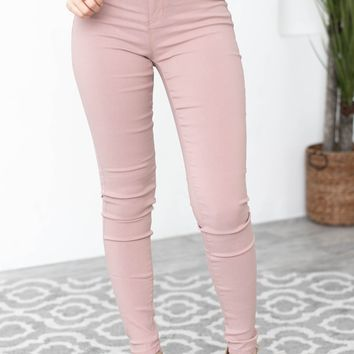Vanessa Mid Rise Skinny Jeans | Rosewood