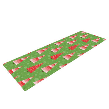 "Julie Hamilton ""Juniper"" Christmas Trees Yoga Mat"