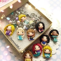 Disney princesses, disney princess jewelry, disney princess bracelet, disney frozen, frozen elsa, please pick 5 and let me know!