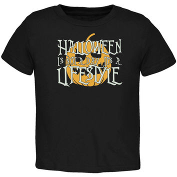 Halloween Lifestyle Black Toddler T-Shirt
