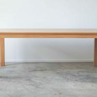 Table Pictured is In Stock  Rustic White Oak Parsons by hedgehouse