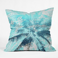 Deb Haugen Portlock Palm Throw Pillow