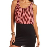 Chevron 2-Fer Body-Con Dress: Charlotte Russe